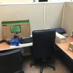 interior cubicle desk and chairs